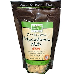 Now Foods, Real Food, Macadamia Nuts, Dry Roasted, Salted, 9 oz (255 g)