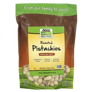Now Foods, Real Food, pistaches grillées, avec du sel de mer, 340 g (12 oz)