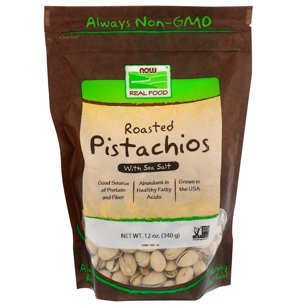 Real Food, Roasted Pistachios, With Sea Salt, 12 oz (340 g)