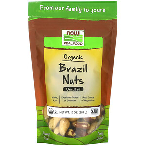 Now Foods, Real Food, Organic Brazil Nuts, Unsalted, 10 oz (284 g) отзывы покупателей
