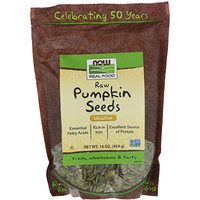 Now Foods, Real Food, Raw Pumpkin Seeds, Unsalted, 16 oz (454 g)