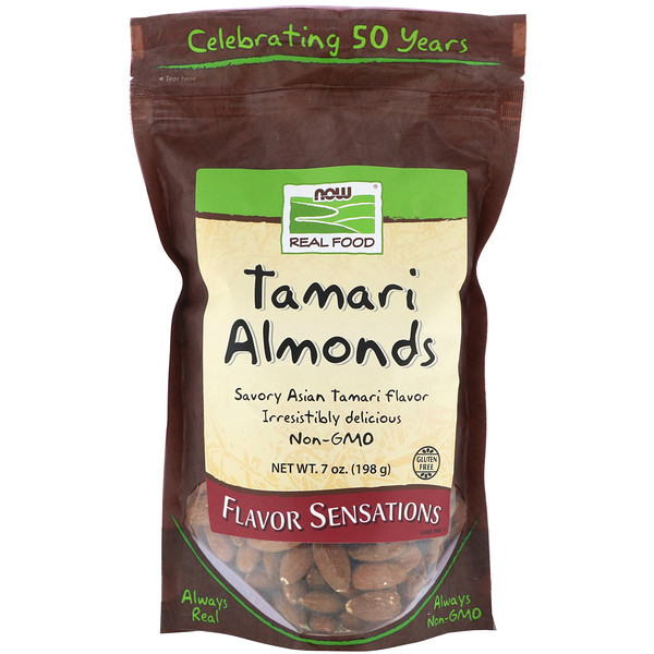 Now Foods, Real Food, Tamari Almonds, 7 oz (198 g)