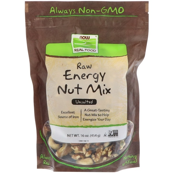 Real Food, Raw Energy Nut Mix, Unsalted, 16 oz (454 g)