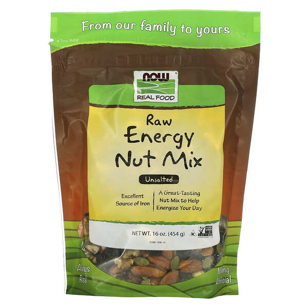 Real Food, Raw Energy Nut Mix, sin sal, 16 onzas (454 gramos)