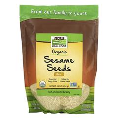 Now Foods, 真實食物,有機生芝麻種子,16 盎司(454 克)