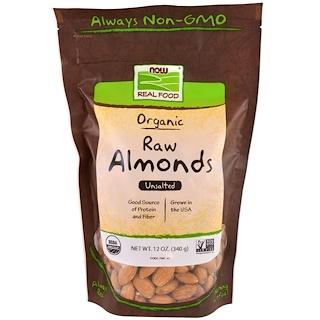 Now Foods, Almendras crudas orgánicas, sin sal, 12 oz (340 g)