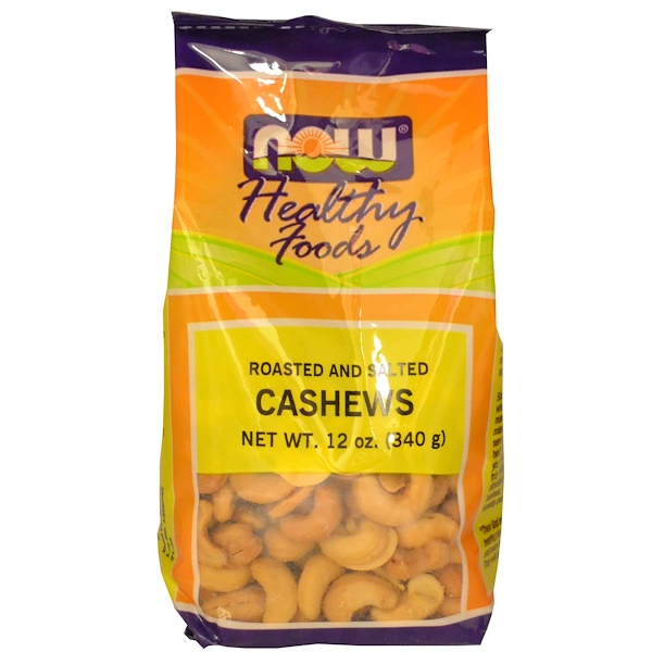 Now Foods, Healthy Foods, Cashews, Roasted and Salted, 12 oz (340 g) (Discontinued Item)