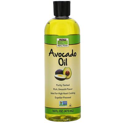 Купить Now Foods Real Food, масло авокадо, 473 мл (16 жидких унций)