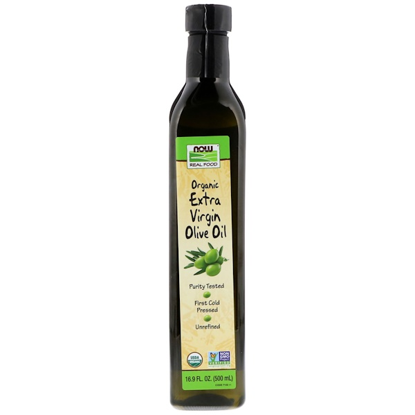 Now Foods, Real Food, Organic Extra Virgin Olive Oil, 16.9 fl oz (500 ml)