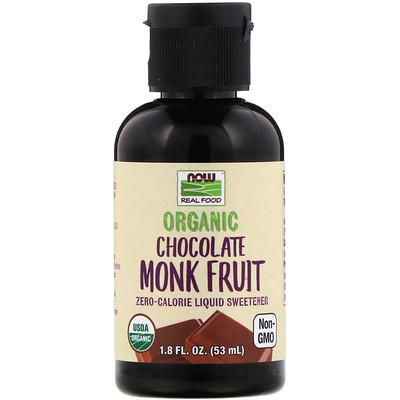 Купить Now Foods Real Food, органический архат, жидкий подсластитель, со вкусом шоколада, 53мл