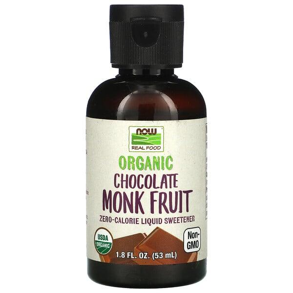 Now Foods, RealFood, Fruto del monje orgánico, Endulzante líquido sin calorías, 53ml (1,8oz.líq.)