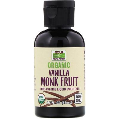 Купить Now Foods Real Food, органический архат, жидкий подсластитель, со вкусом ванили, 53мл