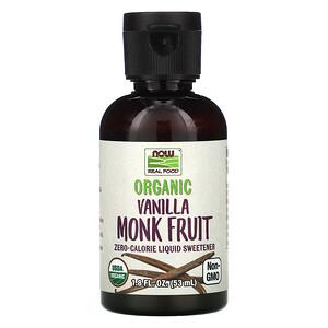 Now Foods, Real Food, Organic Monk Fruit, Liquid Sweetener, Vanilla, 1.8 fl oz (53 ml) отзывы