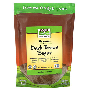 Now Foods, Real Foods, Organic Dark Brown Sugar, 16 oz (454 g) отзывы покупателей