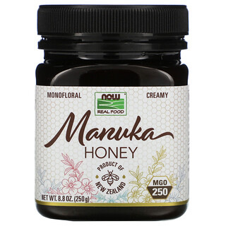 Now Foods, 未加工の自然食品、マヌカハニー、MGO 250、250g(8.8オンス)