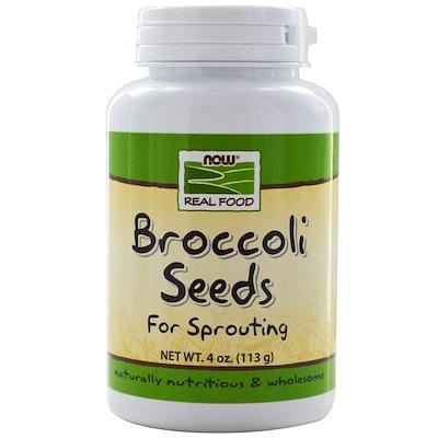 Купить Real Food, Семена брокколи, 4 унции (113 г)