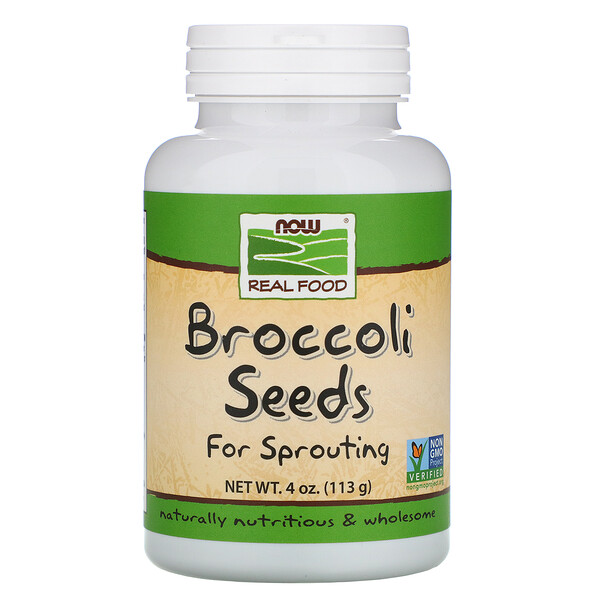 Now Foods, Real Food, Broccoli Seeds, 4 oz (113 g)