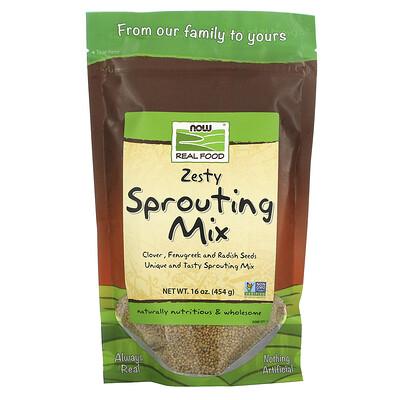 Купить Now Foods Real Food, Микс семян для прорастания, 16 унций (454 г)