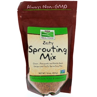 Now Foods, Real Food, Zesty Sprouting Mix, 16 oz (454 g)