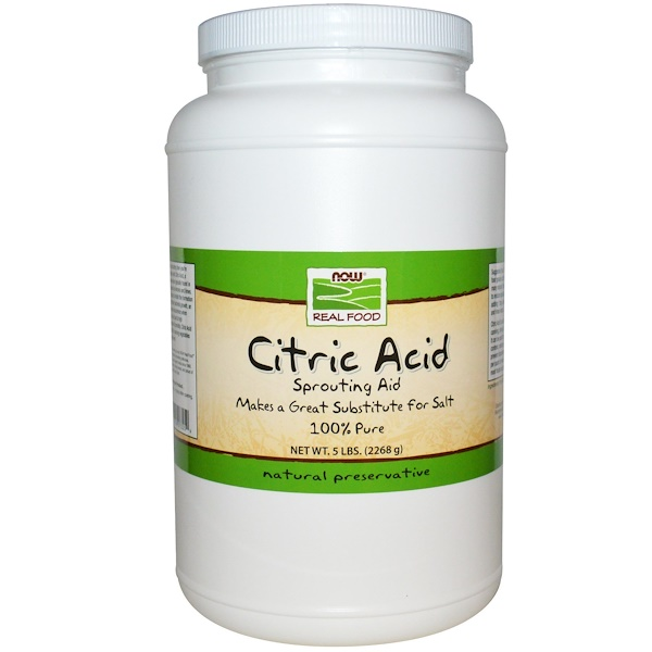 Now Foods, Citric Acid, 5 lbs (2268 g) (Discontinued Item)