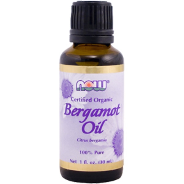 Now Foods, Bergamot Oil, Certified Organic, 1 fl oz (30 ml) (Discontinued Item)