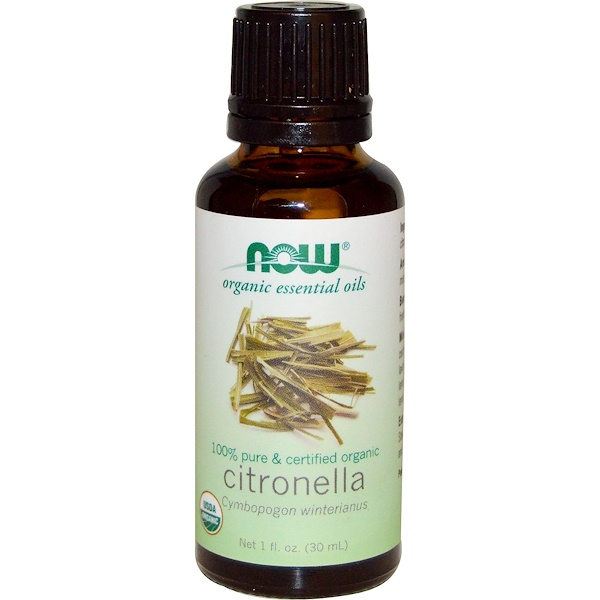 Now Foods, Organic Essential Oils, Citronella Oil, 1 fl oz (30 ml)
