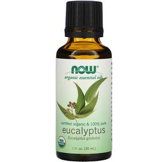 Now Foods, Organic Essential Oils, Eucalyptus, 1 fl oz (30 ml)