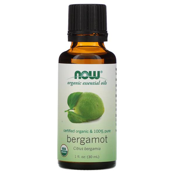 Now Foods, Organic Essential Oils, Bergamot, 1 fl oz (30 ml)