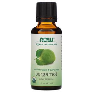 Now Foods, Organic Essential Oils, Bergamot, 1 fl oz (30 ml) отзывы
