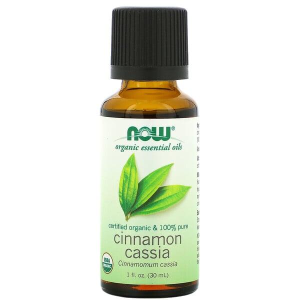 Organic Essential Oils, Cinnamon Cassia, 1 fl oz (30 ml)