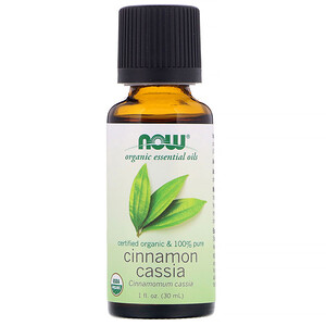 Now Foods, Organic Essential Oils,  Cinnamon Cassia, 1 fl oz (30 ml)