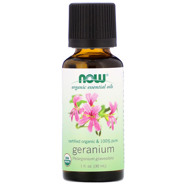 Organic Essential Oils, Geranium, 1 fl oz (30 ml)