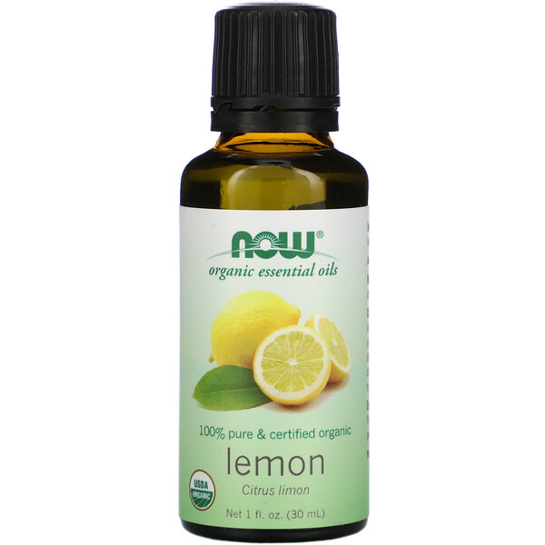 Organic Essential Oils, Lemon, 1 fl oz (30 ml)