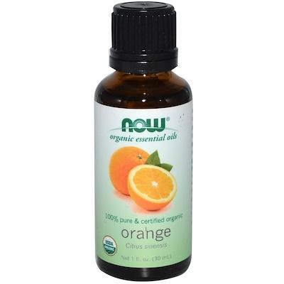 Органические эфирные масла, Апельсин, 1 жидкая унция (30 мл)