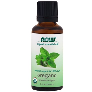 Now Foods, Organic Essential Oils, Oregano Oil, 1 fl oz (30 ml)
