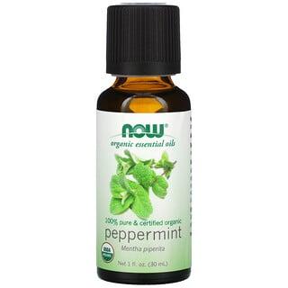 Now Foods, Organic Essential Oils, Peppermint, 1 fl oz (30ml)
