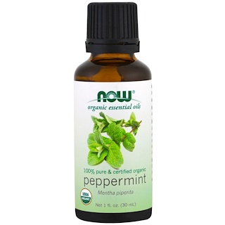Now Foods, Organic Essential Oils, Peppermint, 1 fl oz (30ml)