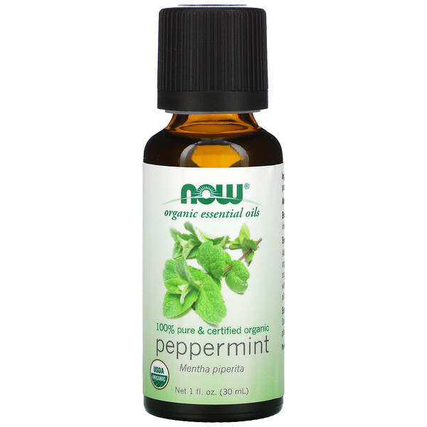 Organic Essential Oils, Peppermint, 1 fl oz (30ml)