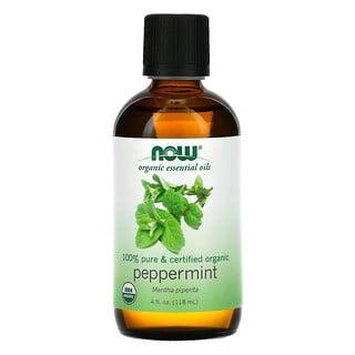 Now Foods, Organic Essential Oils, Peppermint, 4 fl oz (118 ml)