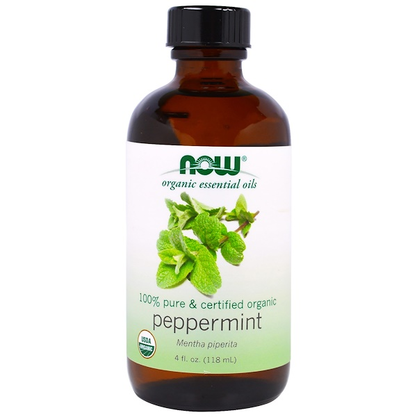 Organic Essential Oils, Peppermint, 4 fl oz (118 ml)