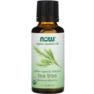 Now Foods, Organic Essential Oils, Tea Tree, 1 fl oz (30 ml) отзывы покупателей