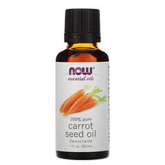 Now Foods, 精油,胡蘿蔔籽油,1液量盎司(30毫升)