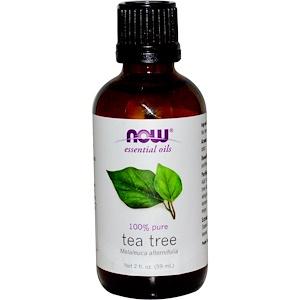 Now Foods, Эфирные масла, Масло чайного дерева, 2 жидких унции (59 мл) инструкция, применение, состав, противопоказания
