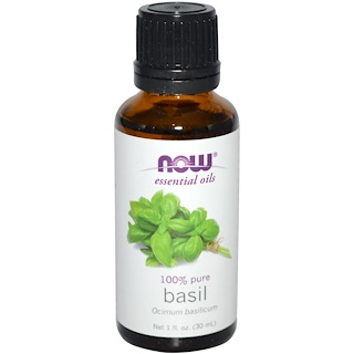 Now Foods, Essential Oils, Basil, 1 fl oz (30 ml)