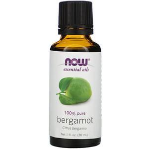 Now Foods, Essential Oils, Bergamot, 1 fl oz (30 ml) отзывы