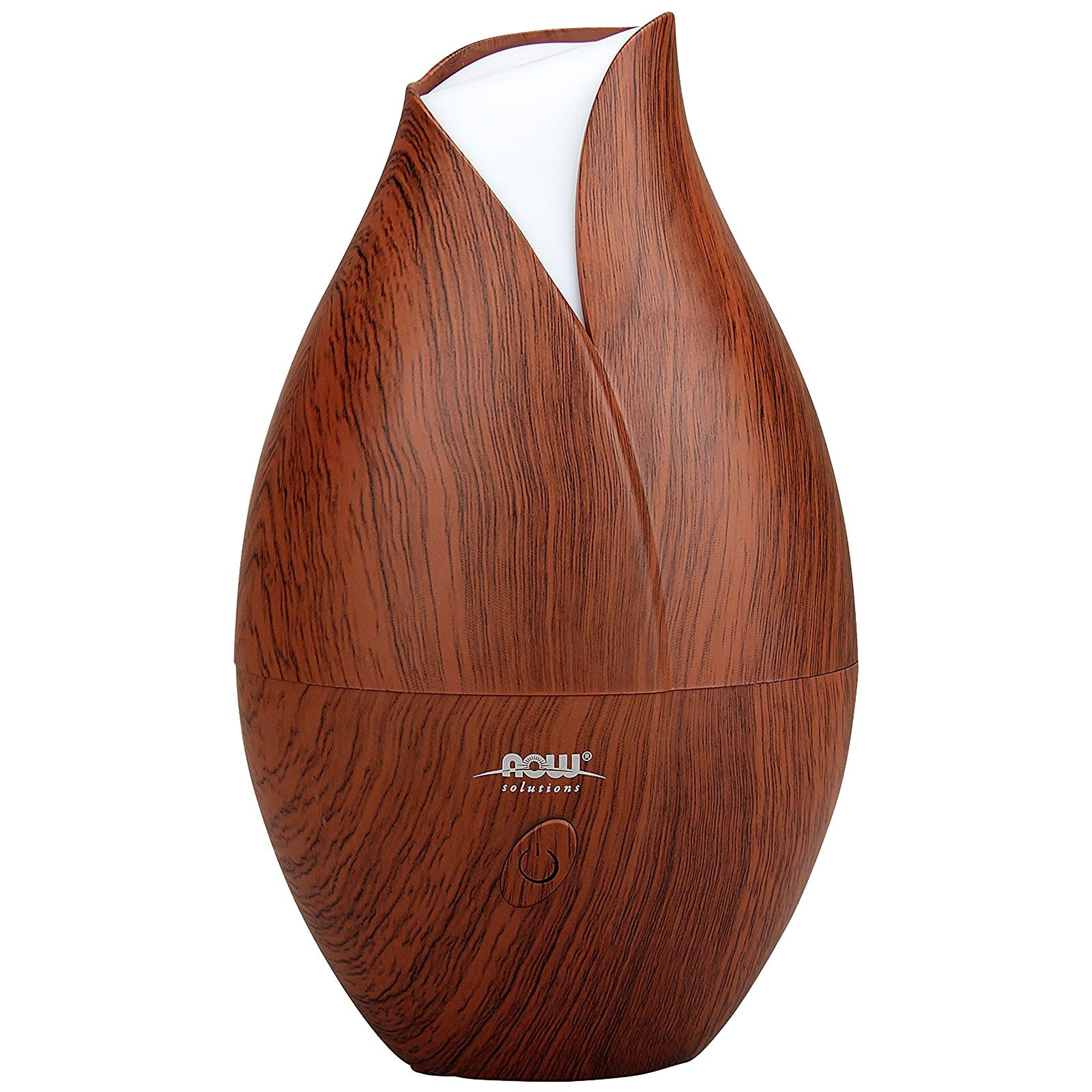 Now Foods Solutions Ultrasonic Faux Wood Grain Oil Diffuser 1 Piece Iherb
