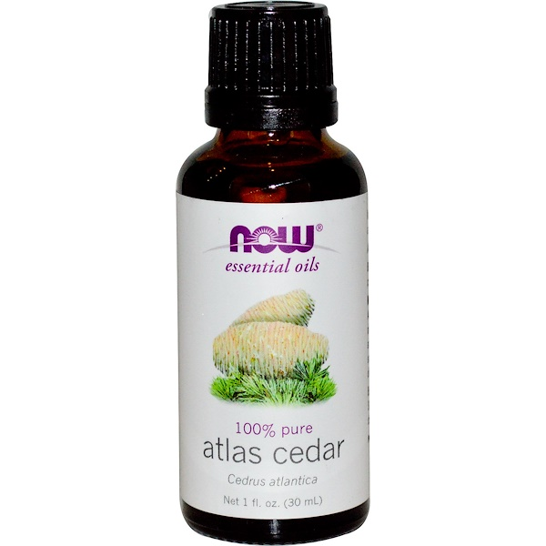 Now Foods, Aceites Esenciales, Cedro del Atlas, 1 fl oz (30 ml)