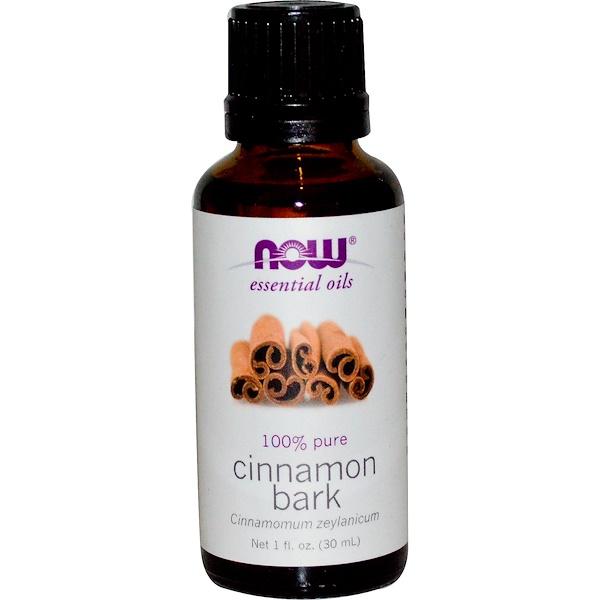 Now Foods, Essential Oils, Cinnamon Bark, 1 fl oz (30 ml)