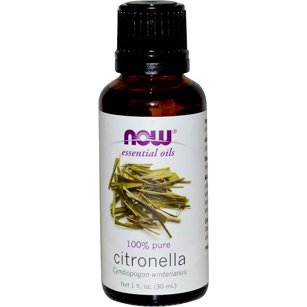 Now Foods, Huiles Essentielles, Citronnelle, 30 ml