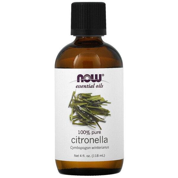 Now Foods, Huiles essentielles, citronnelle, 0,4 fl oz (118 ml)